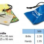 Microfaserbeutel - Handyhülle bzw. Handytasche mit Digital Logo Druck