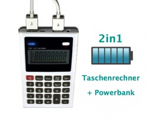 Taschenrechner Powerbank