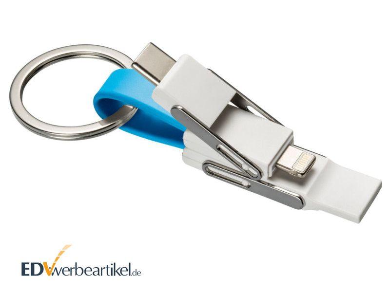 4in1 USB Schnellladekabel mit Lightning für Apple 2A Schlüsselanhänger BIRDY