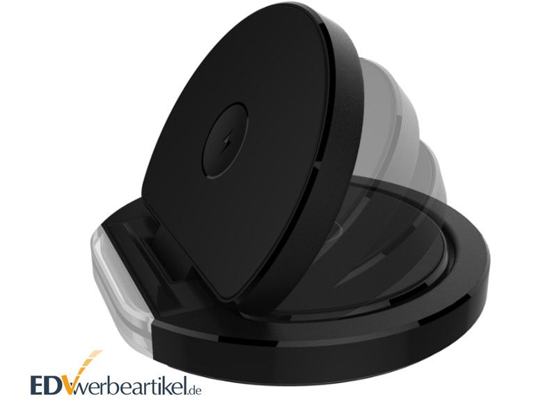 2in1 Wireless Charger Handyhalter als Werbeartikel mit Logo