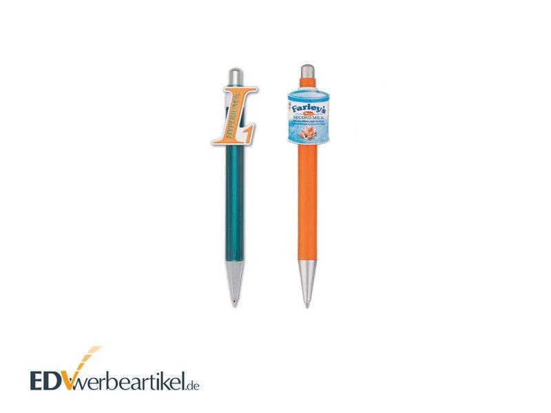 3D Clip Kugelschreiber Werbeartikel