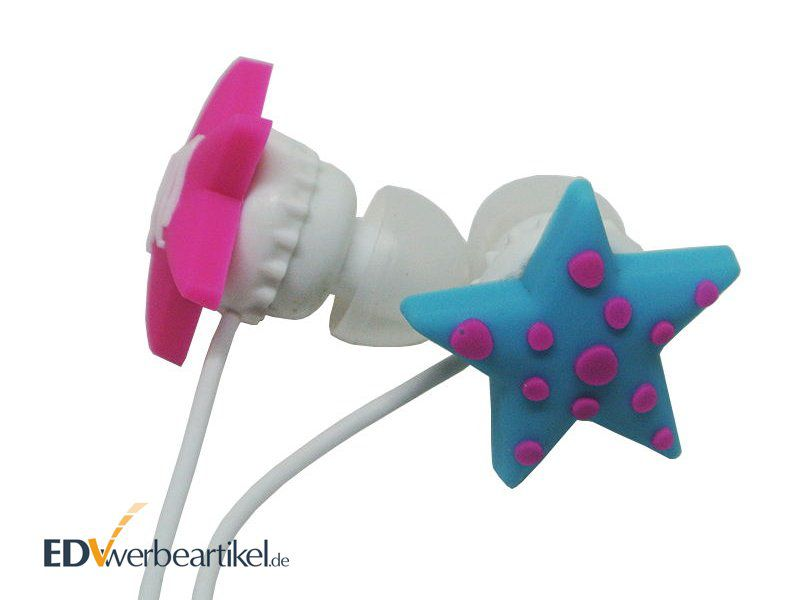 3D In Ear Kopfhörer Werbeartikel Sterne Sonderanfertigung