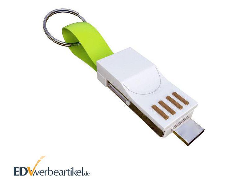 3in1 Mini Ladekabel Schlüsselanhänger als Werbeartikel - BIRDY
