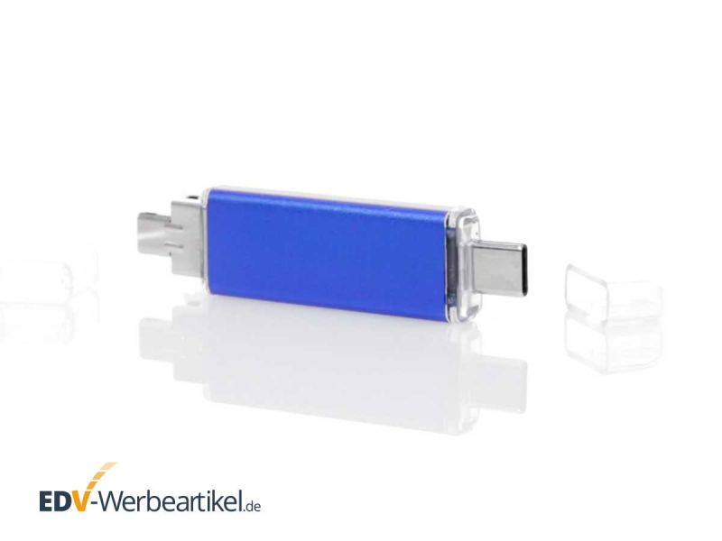 3in1 OTG USB Stick Typ C TRIPLE in blau