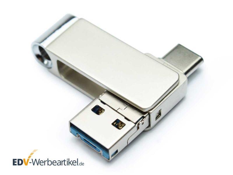3in1 USB Type-C Stick LOOK mit Logo bedrucken