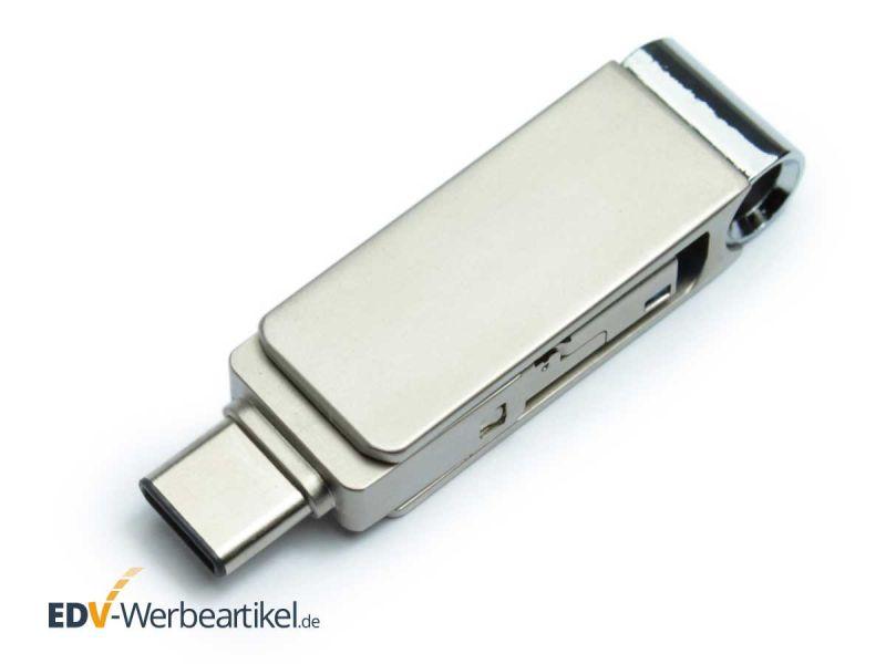 3in1 micro-USB Stick LOOK aus Metall als Werbeartikel