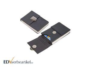 Echt Leder Visitenkarten Etui mit Magnetverschluss