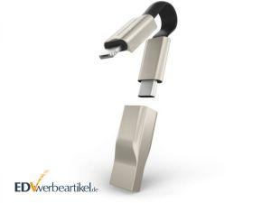 Mini USB 5in1 Ladekabel Schlüsselanhänger mit Logo PLUS+