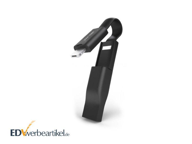 Mini USB 5in1 Ladekabel Schlüsselanhänger bedrucken PLUS