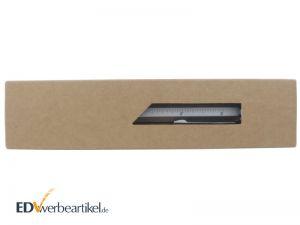 8-in-1 Multifunktions-Kugelschreiber in brauner Karton Geschenkbox