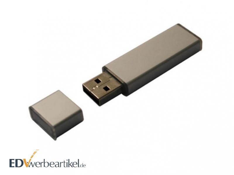 USB Stick Mini Aluminium Silber als Werbeartikel