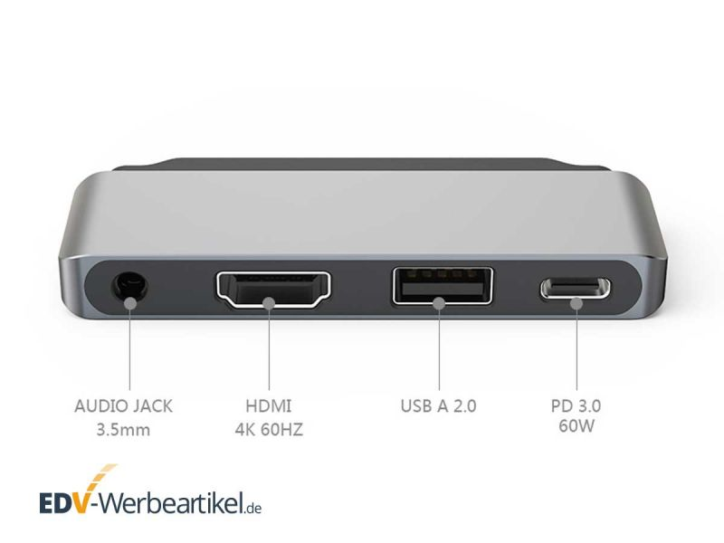 Adapter für USB C, Audio, Hdmi, USB 2 iPAD PRO und MACBOOK PRO - Produkt-Bild #2
