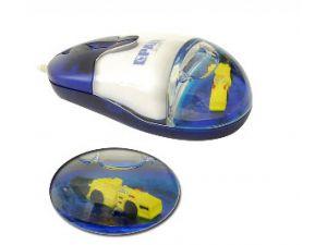 PC Maus Werbeartikel mit Flüssigkeit und 3D Logo schwimmelement