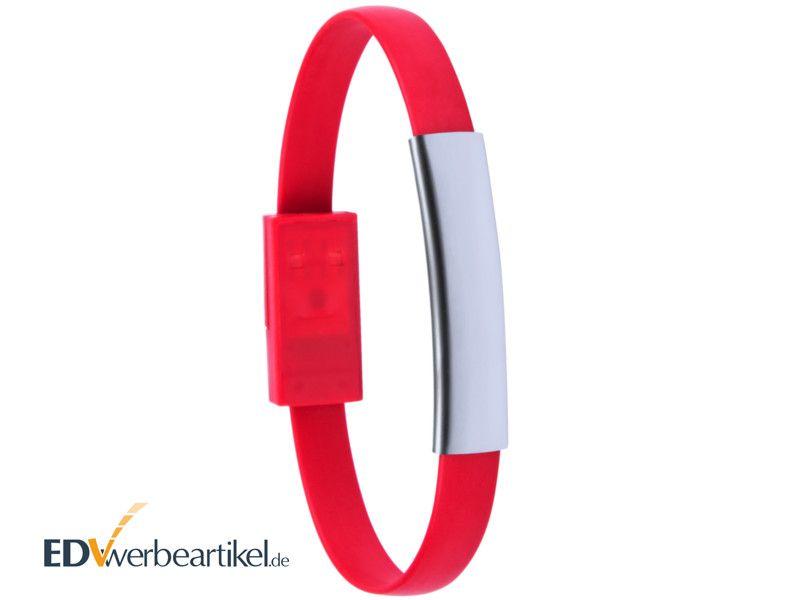 USB Ladekabel Armband Werbeartikel