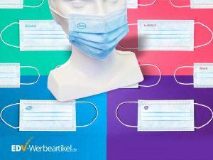 Mund-Nasenschutz mit Logodruck /Druckbeispiele