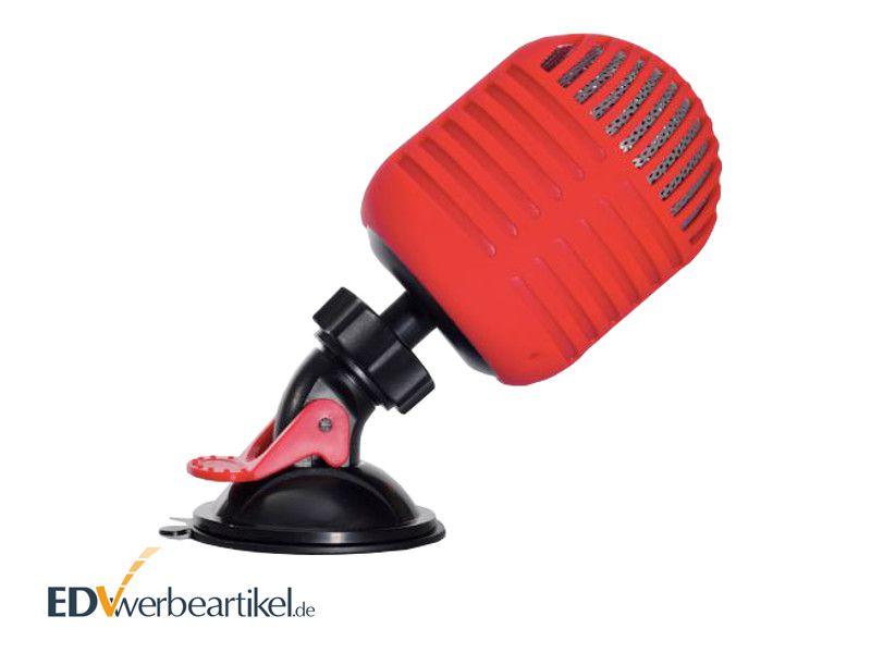 Bluetooth Lautsprecher Werbegeschenk bedrucken mit Logo - MIKROFON