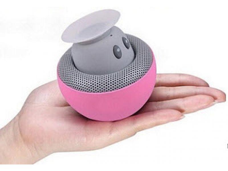 Bluetooth Speaker im Miniformat mit Saugnapf Halterung CRAZY FUNGUS