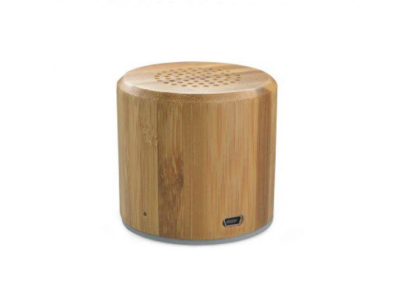Holz Bambus Mini Lautsprecher Rund