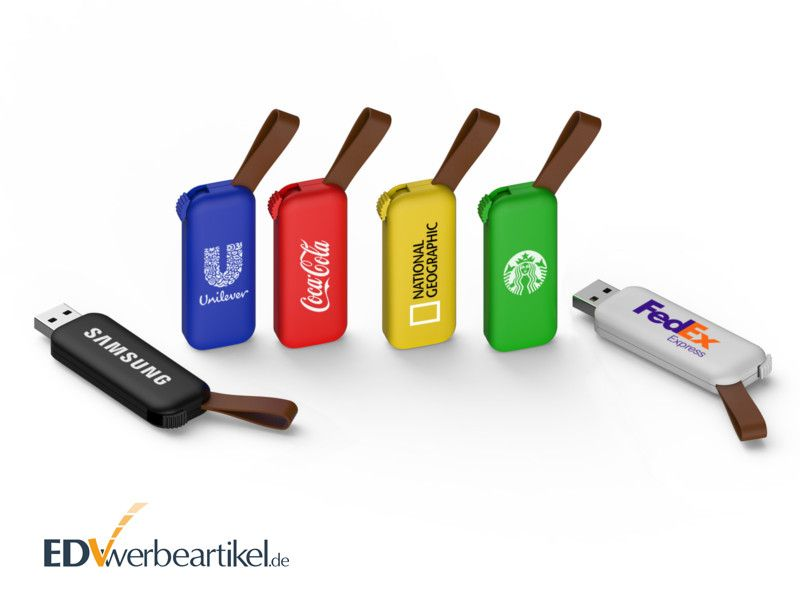 Bunte USB Sticks RODEO als Werbeartikel