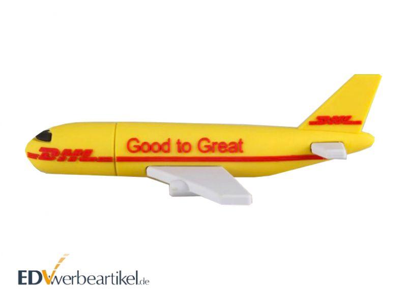USB Stick 3D Sonderform - Flugzeug Werbeartikel