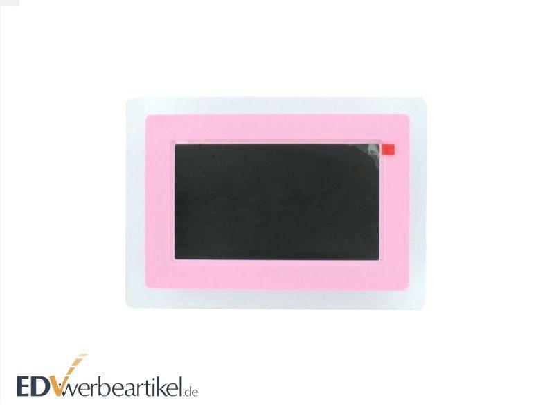 Digitaler Bilderrahmen als Werbegeschenk - pink rosa