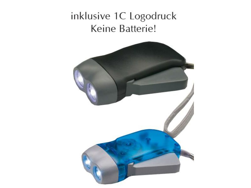 Dynamo Taschenlampe als Werbeartikel bedrucken
