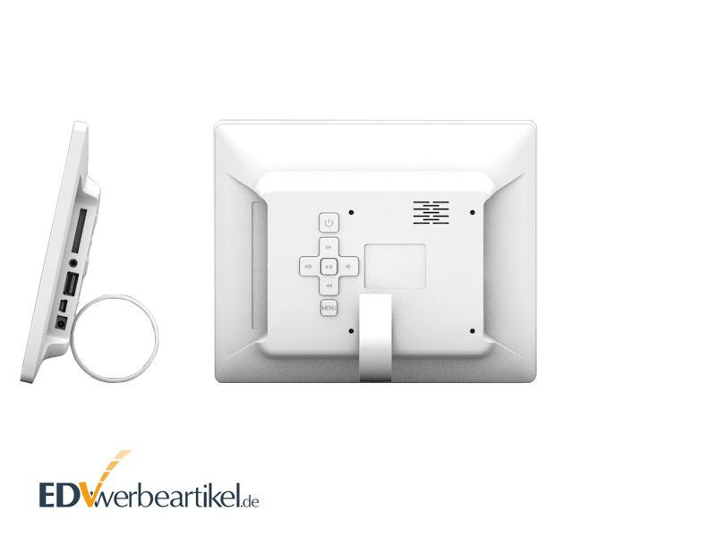 Elektrischer Fotorahmen bedrucken mit Logo als Werbegeschenk - Werbeartikel mit Firmenlogo