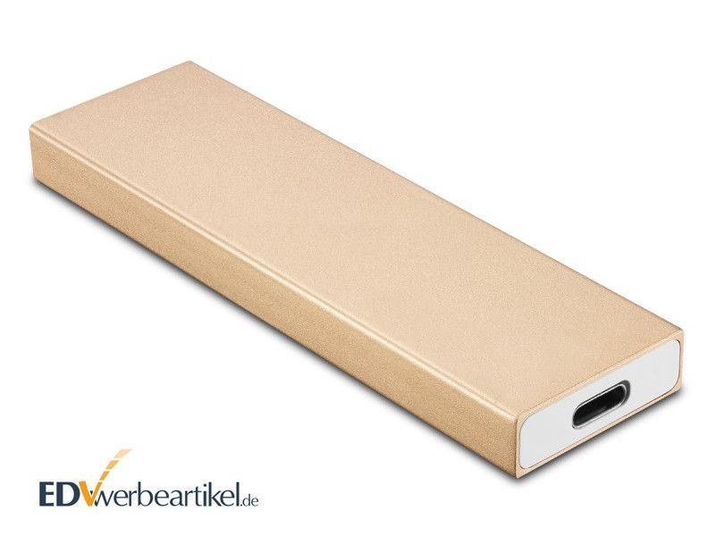Externe SSD Festplatte Mini USB PORTABLE als Werbeartikel