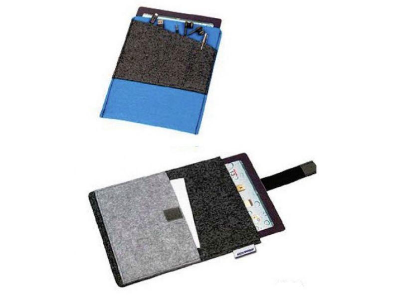 Filzhülle für Tablet oder iPad mit Klettverschluss und Logodruck