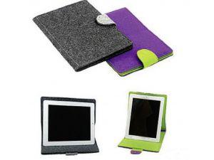 Filz Etui mit Standfuss für Tablet oder iPad mit Logo
