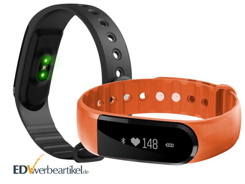 Fitness Armband Pulsmesser Werbeartikel mit Logo bedrucken - HEART PULSE