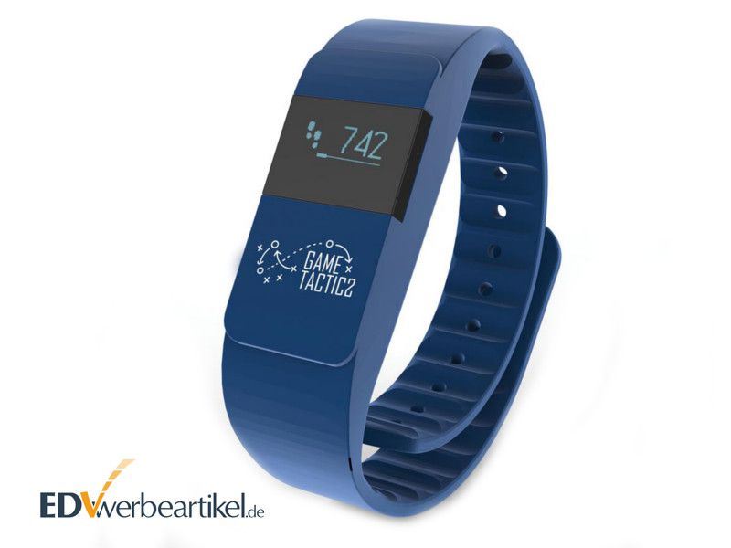 Fitness Armband Werbeartikel Blau - ACTIV FIT