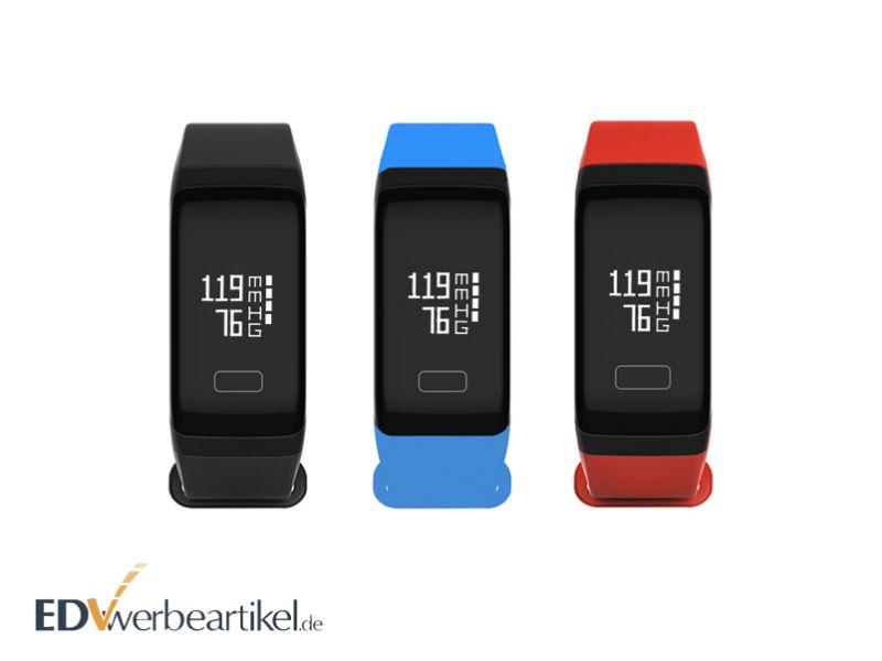 Werbeartikel Fitness Armband bedrucken RUN