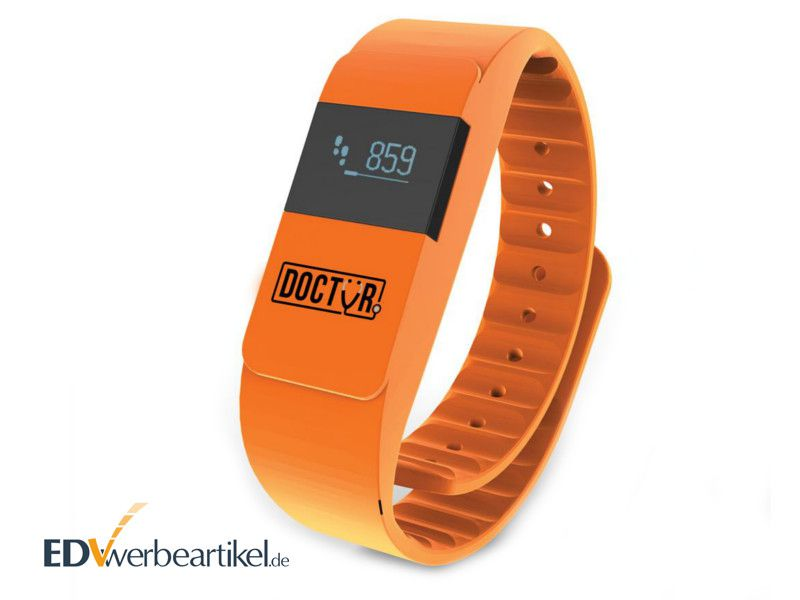 Fitness Armband Werbegeschenk Orange - ACTIV FIT
