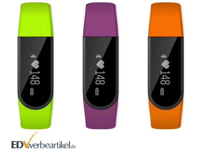 Fitnessarmband Pulsmesser Werbeartikel mit OLED Touch Screen - mit Logo bedrucken