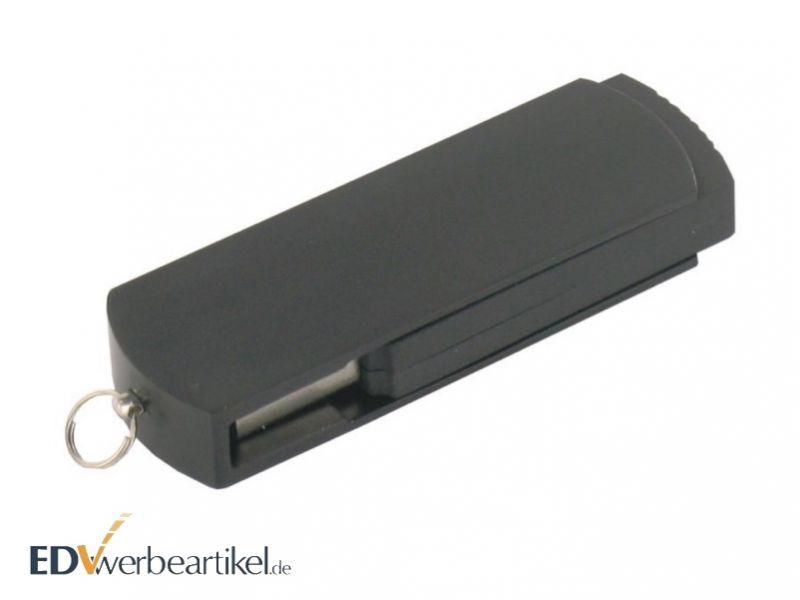 USB Stick Flip Twister als Werbemittel bedrucken - schwarz geschlossen
