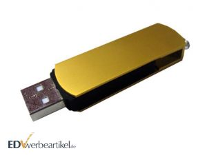 USB Stick mit Logo TWISTER gold