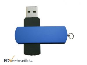 USB Stick Flip Twister Blau mit Logo als Werbeartikel