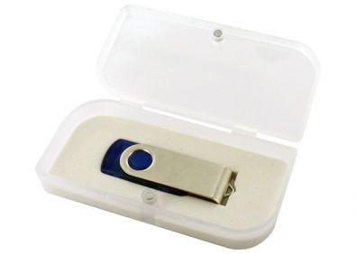 Geschenketui für USB Sticks in weiß transparent