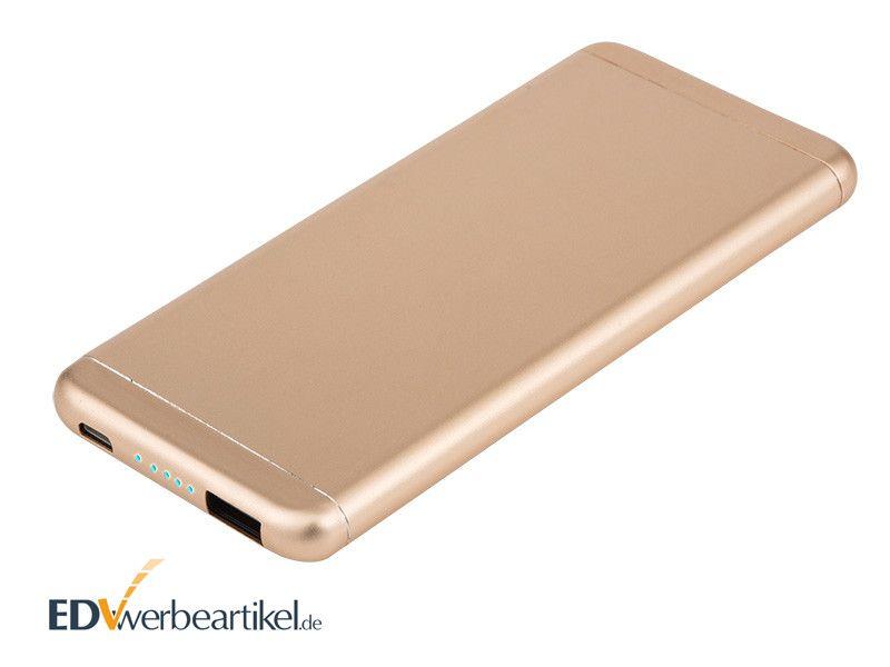 Gold Powerbank Werbeartikel bedrucken