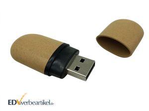 Grüne USB Sticks als Werbeartikel - OVAL RECYCLED