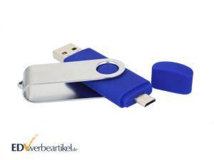 Handy USB Stick OTG mit Logo bedrucken als Werbeartikel Werbegeschenk Werbemittel