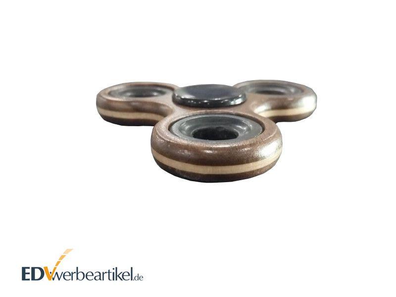 Holz Fidget Spinner mit Logo gravieren Geschicklichkeits Werbemittel