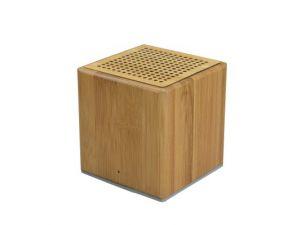 Würfel Mini Lautsprecher aus Bambus