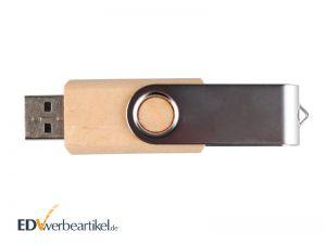 Holz USB Stick Werbemittel mit Logo gravieren Twister, Switch, Flip