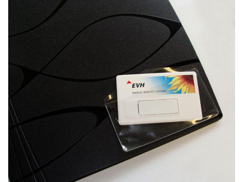 transparente Hülle für USB Visitenkarten