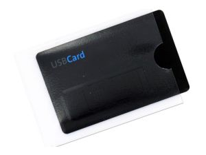 Transparente Kunststoffhülle für USB Card Visitenkarte