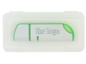 USB Stick Klappbox transparent