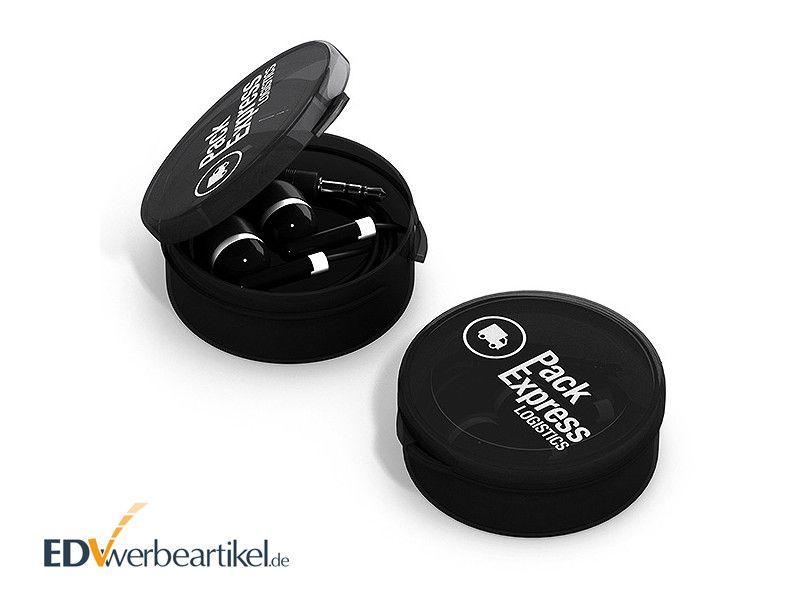 In-Ear Ohrhörer STEREO mit Logo bedrucken