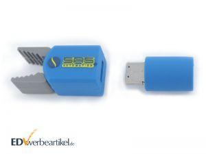 Individueller USB Stick 3D Form mit Logo - Produkt Beispiel Werbeartikel